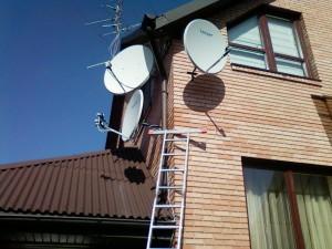 ustawianie, montaż anten na ścianie siedlce